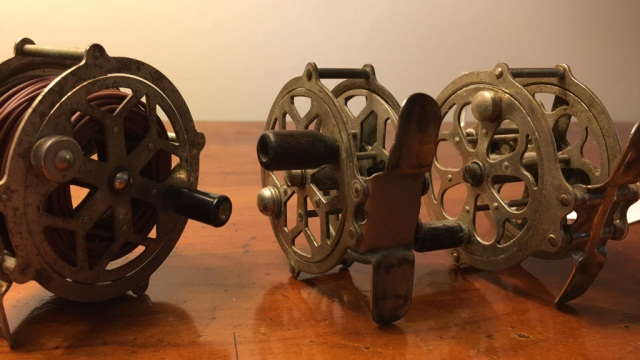 Lot of 3 Antique Skeleton Type Reels