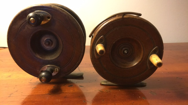 Lot of 2 Rose Wood Fly Reels