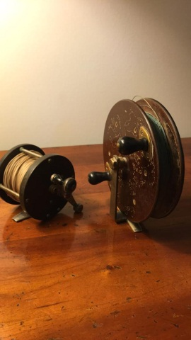 Lot of 2 Antique Fly Reels