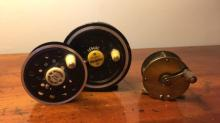 Lot of 2 Fly Reels and Spool