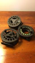 Lot of 3 Leed Graphite Reels 3 1/2