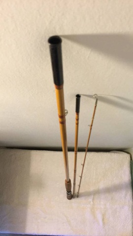 Antique Heddon Deluxe Salmon Rod 108