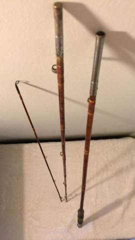 Antique Split Bamboo 3 Piece Fly Rod
