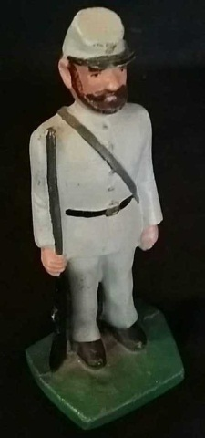 Vintage Painted Iron Doorstop Confederate Soldier