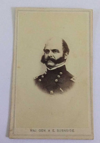 Antique Photograph Maj. Gen. AE Burnside