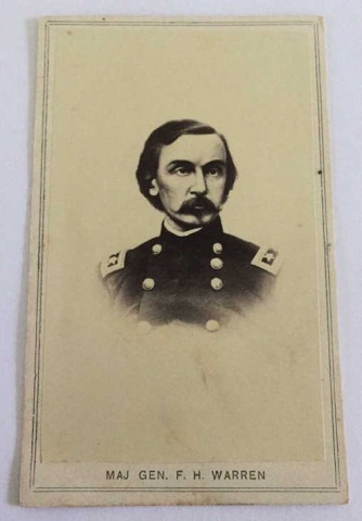Antique Civil War Photograph Mag. Gen. FH Warren