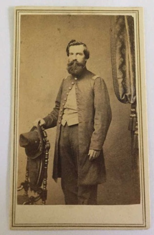Antique Civil War Photograph Officer Unknown