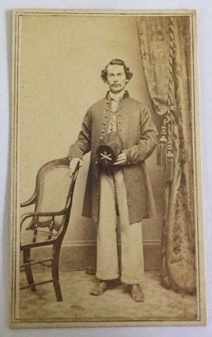 Antique Civil War Photo. From 9th N.Y. Vol. Reg