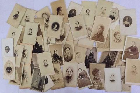 Lot of 45+ Antique Mostly CDV Photos. of Women