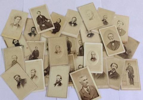 Lot of 27+ Antique Mostly CDV Photographs of Men