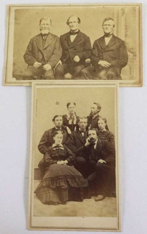 Lot of 2 Antique Group Photographs