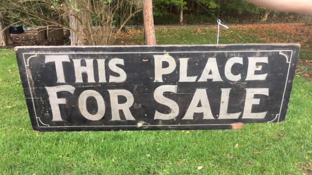 Antique Painted Wood Sign