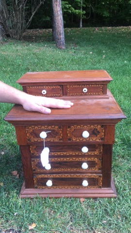 Antique 7 Drawer Miniature Chest