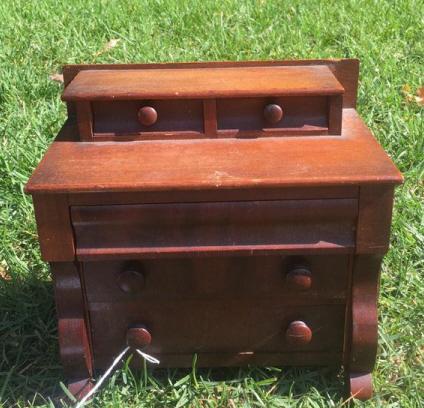 Antique Miniature 5 Drawer Chest