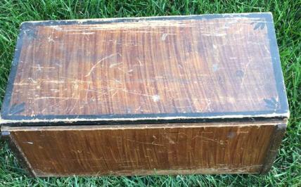 Antique Grain Painted Wooden Box
