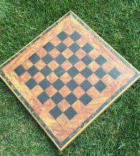 Antique Linoleum Checker/Game Board