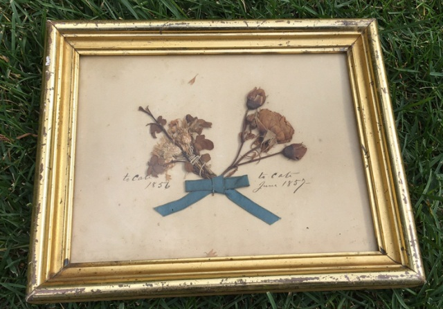 Antique Framed Love Token