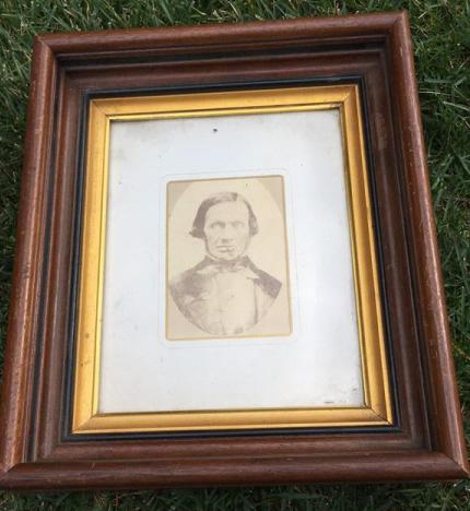 Antique Albumen Photograph In Deep Walnut Frame