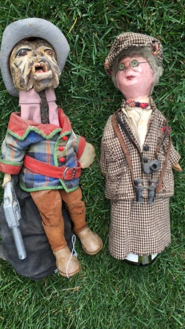 Pair of Folk Art Puppets