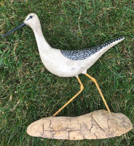 Vintage Carved and Painted Bird Figure