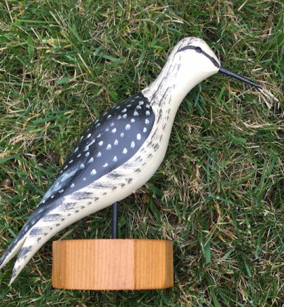 Vintage Carved and Painted Shore Bird Figure