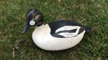 Vintage Carved and Painted Wood Figure of Duck