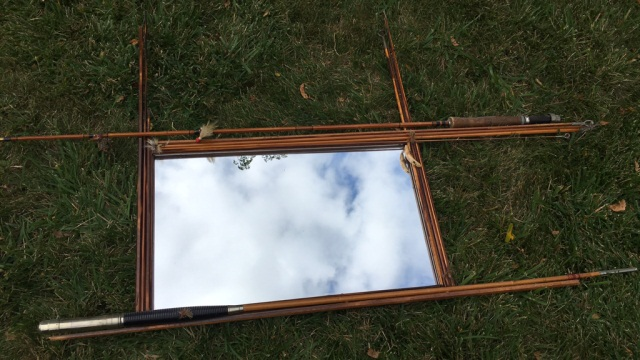 Decorative Mirror with Fly Rod Frame