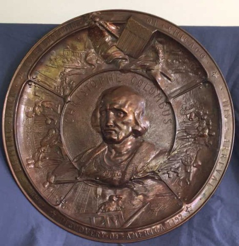 1893 Chicago World's Fair - 1893 - Bronze plaque