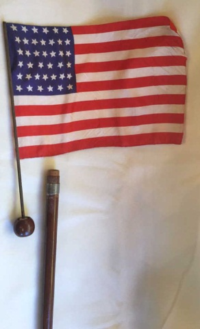 Antique American Civil War Flag Cane