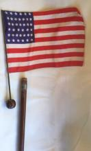 Antique American Civil War Flag Cane