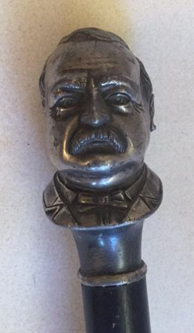 Antique Grover Cleveland Figural Cane
