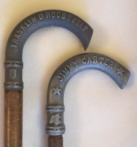Lot of 2 Presidential Canes Carter & Roosevelt
