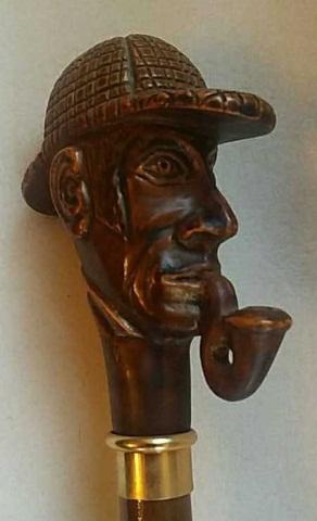 Vintage Sherlock Holmes Cane/Walking Stick