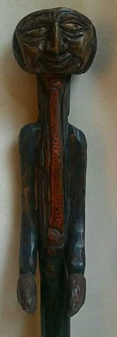 Vintage Folk Art Carved Cane