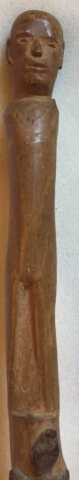 Antique Folk Art Carved Walking Stick