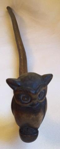 Hand Carved Folk Art Owl Cane