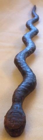 Antique Carved Snake Form Cane/Walking Stick