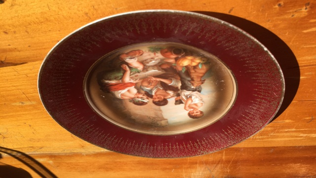 Antique Hand Painted Porcelain Plate