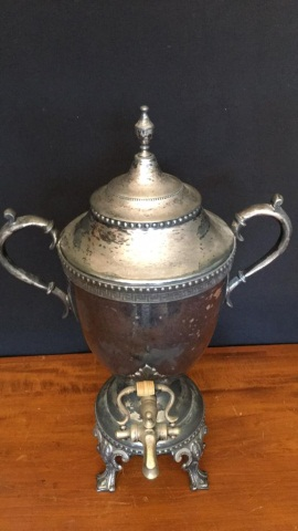 Antique Silverplate Coffee Urn