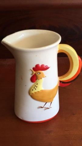 Vintage Hoalt-Hoard Ceramic Pitcher w/Rooster