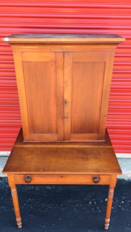 Antique Cherry Clerks Desk Circa 1845