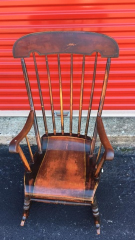 Antique Boston Rocking Chair in Original Paint