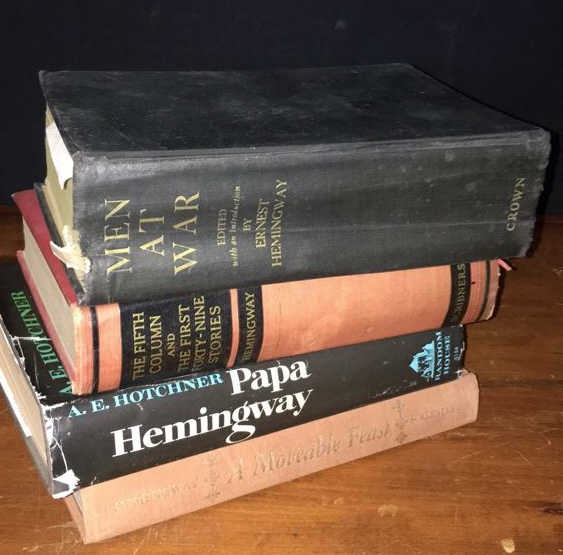 Group of 4 Books By Ernest Hemingway