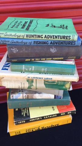 Lot of 14 Books Regarding Fishing, Hunting & Guns