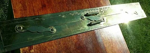 T. S. & J. D. Negus Brass Navigational Ruler
