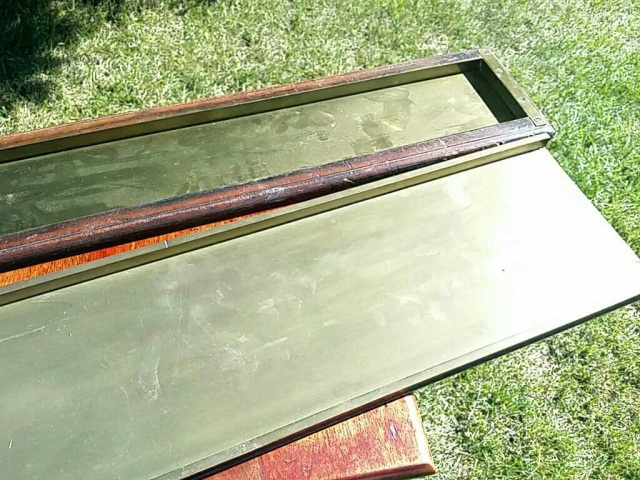 Two Antique Brass Typesetter Trays