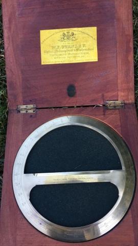 Antique Stanley Round Brass Protractor
