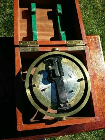 Antique Brass Gimbaled Nautical Compass