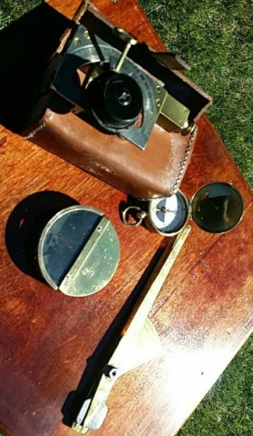 Lot of Vintage Brass Scientific Instruments