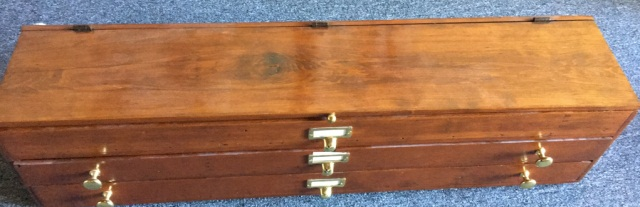 Antique Box w/Lift Top Two Drawers